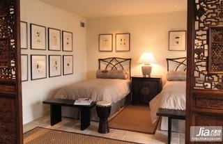 中式古韵的二居室卧室装修效果图大全2012图片装修图片