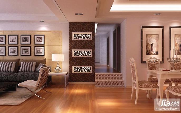 鱼缸图片 远洋公馆中式古典三居室装修效果图图片
