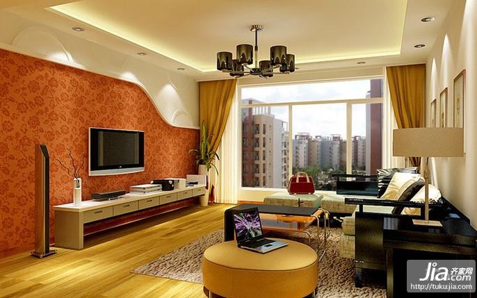 美好愿景二居室93平米装修效果图高清图片