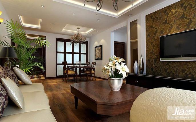碧桂園銀河城三居室135平米b戶型裝修圖片