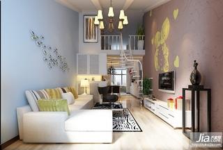 温馨时尚的阁楼客厅设计装修效果图