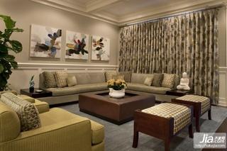 2012最新欧式田园风格复式楼客厅装修效果图装修图片