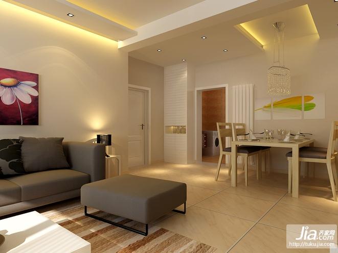 郊区复式精装新房客厅装修效果图图片