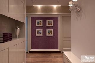 温馨紫色 简约实用过道效果图装修图片