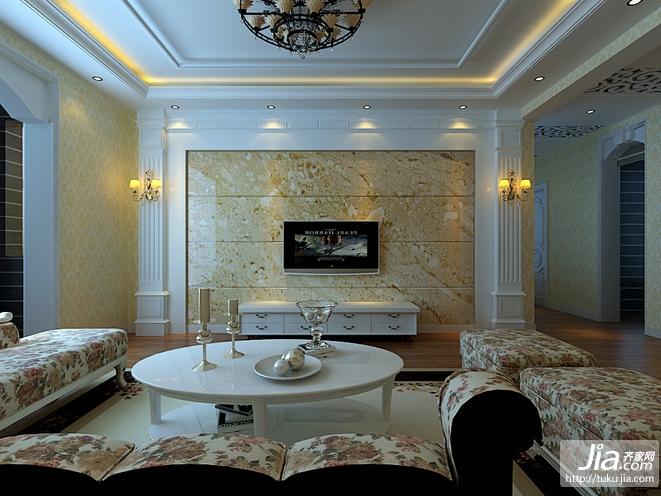 简约大气 经典欧式客厅装修图片