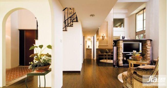 美式乡村风格客厅装修装修效果图