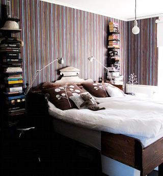 简约风格实用卧室书架效果图
