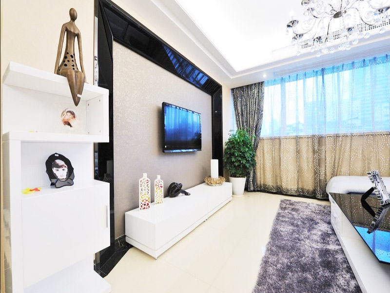 现代简约风格简洁现代简约电视背景墙设计图