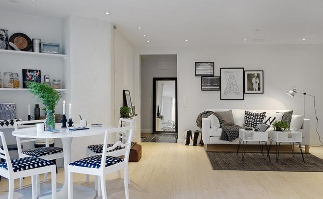 美式风格黑白客厅装修效果图