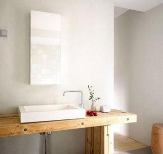 简欧风格白色卫生间台盆效果图
