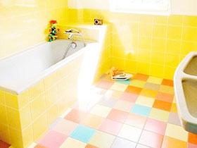 小清新卫生间设计 12款彩色拼接瓷砖图