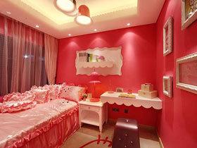 热情洋溢的红 18款红色卧室背景墙设计