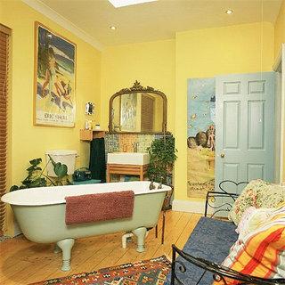绿色卫生间浴缸图片