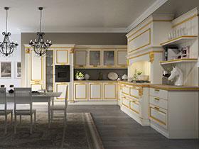 素色厨房效果图 17款白色橱柜设计