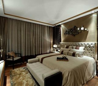 现代简约风格二居室时尚黑白卧室装修效果图