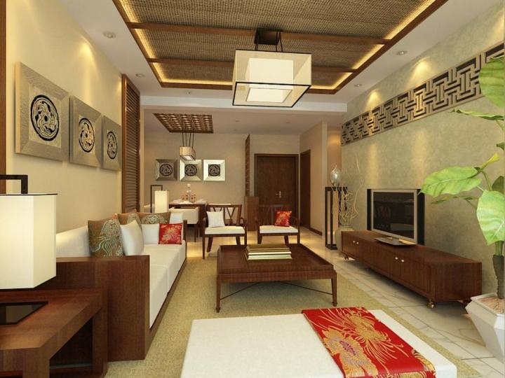 中式风格古典吊顶效果图