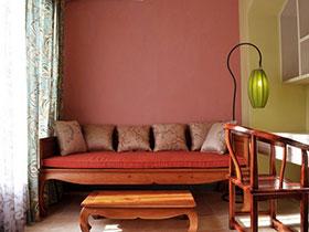 温馨田园风沙发背景墙设计图