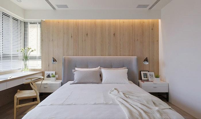 简约风格舒适床头软包设计图