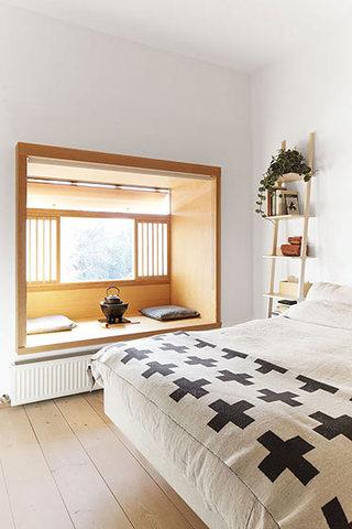 简约风格舒适卧室地板效果图