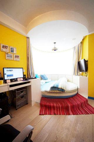 田园风格舒适卧室地板效果图