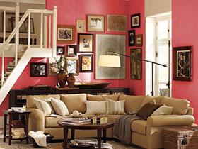 個性照片墻設計 17張沙發背景墻效果圖