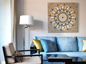 装出美貌客厅 17款简约装饰画图片