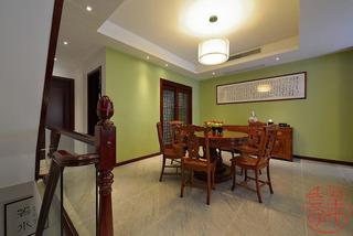 中式风格别墅奢华20万以上餐厅设计图