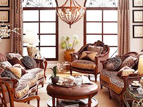 大氣美式客廳 14款皮質沙發效果圖