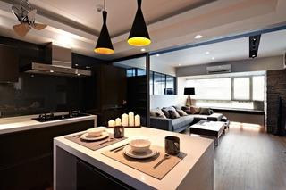 混搭风格二居室时尚10-15万厨房装潢