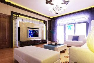 中式风格大气电视背景墙设计