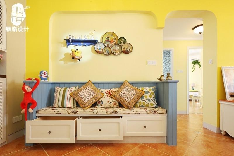 地中海风格小清新90平米卡座二手房设计图纸