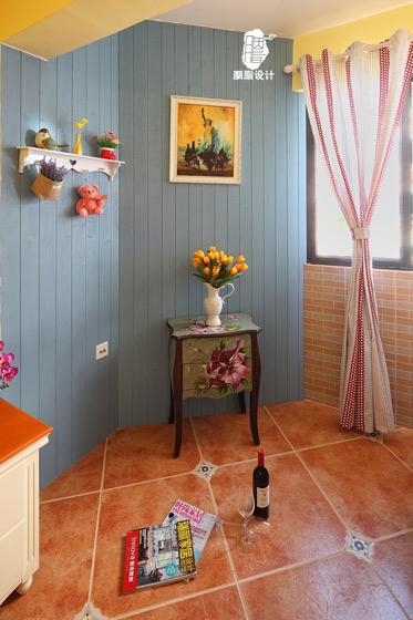 地中海风格小清新90平米二手房设计图