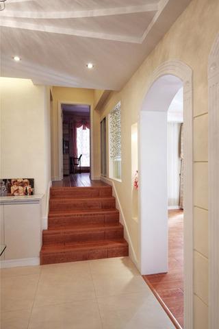 欧式风格奢华130平米楼梯婚房家装图片