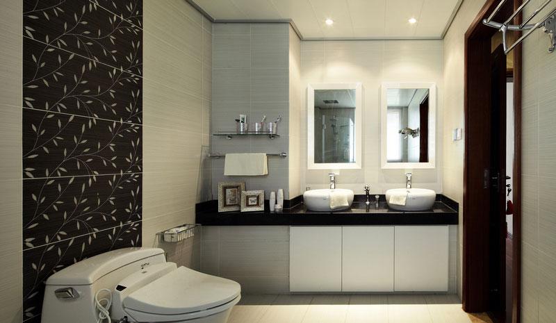 中式风格别墅奢华卫生间效果图
