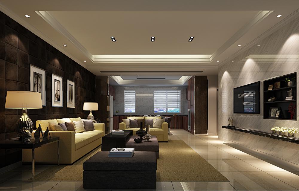 浪漫港湾顶层复式装修效果图,室内设计效果图-齐家图片