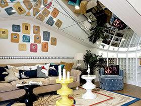 个性地中海风 16张特色沙发背景墙设计图