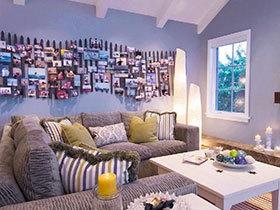个性照片墙设计 16张地中海沙发背景墙图片