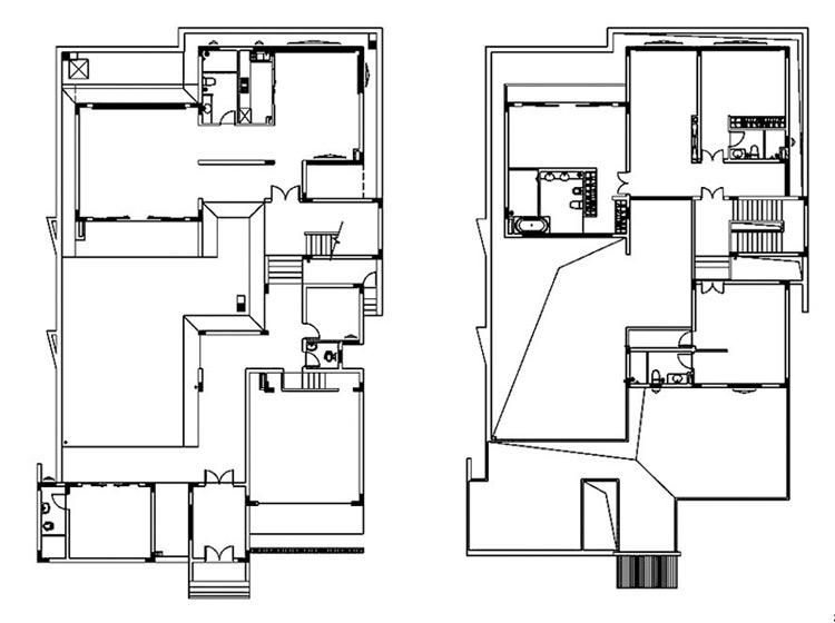 新中式风格别墅奢华户型图