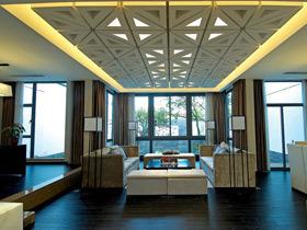 沉稳中性色打造新中式别墅 爸妈很喜欢这样的设计