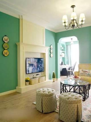 甜美铬绿色美式田园三居室 就喜欢这样清新的家2/5