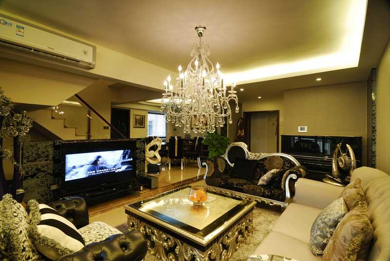 欧式风格别墅奢华客厅装修
