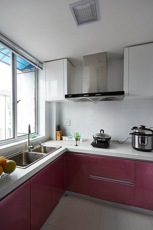 经典l型橱柜设计 16张简约厨房效果图图片