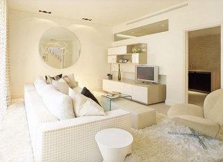 美式风格大气米色电视柜效果图