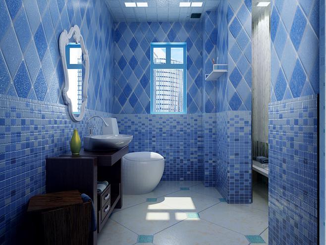 蓝色浪漫小户型 异地恋的地中海风格婚房