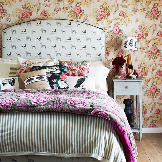 欧式风格卧室壁纸效果图图片
