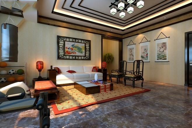 中式风格古典绿色效果图