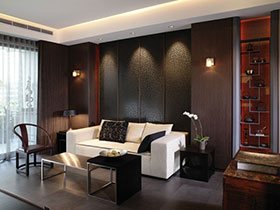 雅致现代新中式客厅背景墙设计