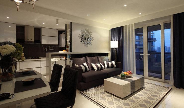 现代简约风格二居室时尚5-10万80平米客厅效果图