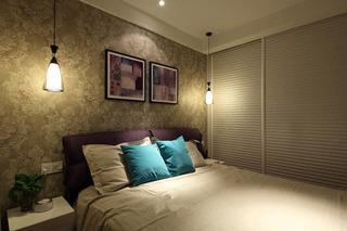 现代简约风格二居室时尚5-10万80平米卧室效果图