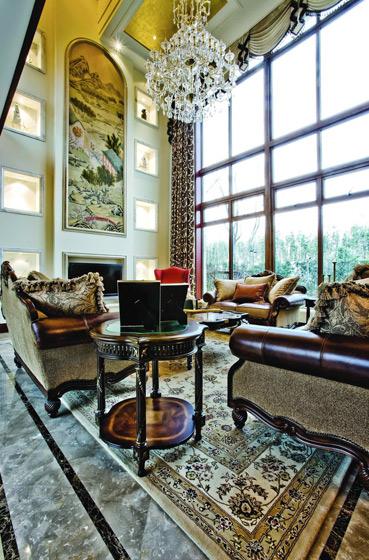 美式风格别墅奢华效果图